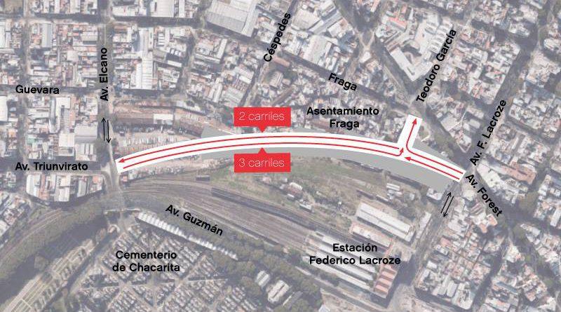 En marzo habilitarán la extensión de la Avenida Triunvirato