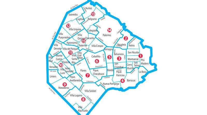 Mapa comunas