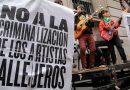 En la calle rechazando la reforma al Código Contravencional