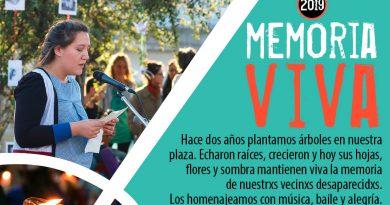Homenaje a vecinos desaparecidos de Parque Chas
