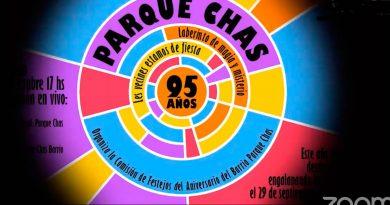 Manteniendo el espíritu colectivo, Parque Chas festejó sus 95 años en modalidad virtual