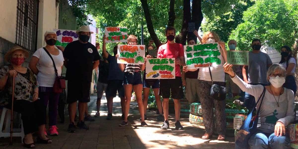 Resisten amenaza de desalojo de una huerta orgánica comunitaria