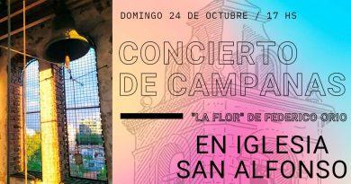 Se realizará un concierto de campanas en la Parroquia San Alfonso